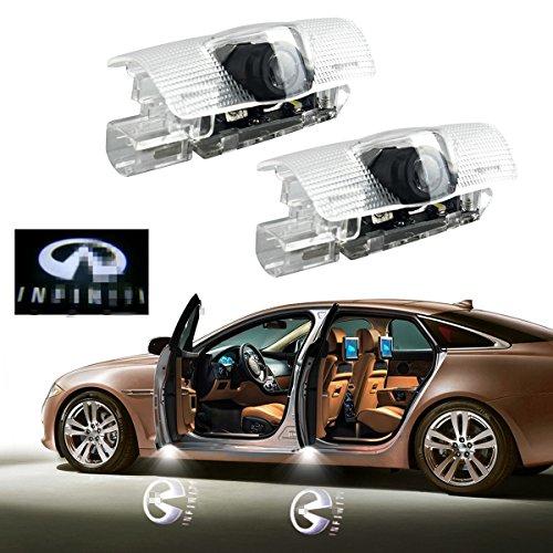 2Pcs Car Door Logo Projector Light for Infiniti, YANF Led Ghost Shadow Courtesy Lights Infiniti Symbol Welcome Lamp Kit for Infiniti Q50 FX35 FX37 F50 G37 QX70 QX60 EX35 G35 CAN-bus No Error