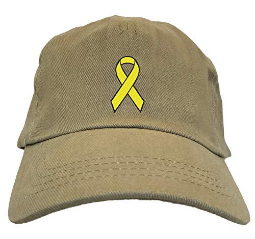 Tcombo Yellow Ribbon - Cause Awareness Dad Hat (Beige) -
