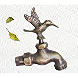 "Decorative Solid Brass Hummingbird Garden Outdoor Faucet 4"" inches L - PS8"