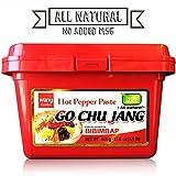 "Hot Red Chili Pepper Paste, Korean Traditional Essential Seasoning Sauce""Go Chu Jang"", gochujang [Wang Food], Cholesterol Free Fat Free All Natural No MSG Added, Made in Korea"