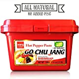 "Hot Red Chili Pepper Paste, Korean Traditional Essential Seasoning Sauce ""Go Chu Jang"", gochujang [Wang Food], Cholesterol Free Fat Free All Natural No MSG Added, Made in Korea"