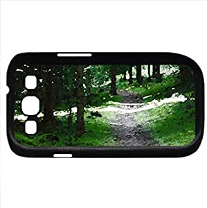 Swedish Forest Path (Forests Series) Watercolor style - Case Cover For Samsung Galaxy S3 i9300 (Black)