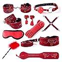 10 PCS SMおもちゃ乳首カップリング金属チェーンSMおもちゃカップル用 ( Color : Red )