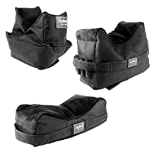 Set of 3 Black Color Bench Rest Shooting Bags (Empty / Unfilled) This item works with Remington 700 770 597 , SIG 522 556 , FN SCAR , Bushmaster ACR , Hk416 Hk417 , AR15 , Mossberg 715t FLEX-22 , Umarex 416 , Ruger SR22 SR556 N0.1 M77 77/22 10/22 Mini-14 Mini-30 , Winchester 70, Marlin .22 9mm .45 Camp Carbine, Howa 1500, Weatherby Vanguard, S&W M&P 15-22 Rifles by m1surplus