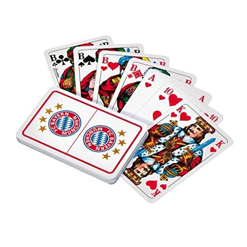 Skatkarten FC Bayern München FCB plus gratis Sticker München forever, Spielkarten / Skat / Karten / deck / cubierta / pont / Playing Cards