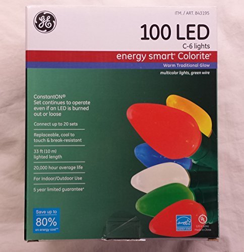 Ge 100 Led C6 Lights in US - 8