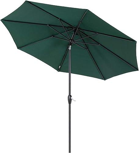 Tempera 9 ft Auto-Tilt Patio Umbrella Outdoor Garden Table Umbrella
