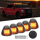Smoked Cab Roof Top Marker Running Lamps Clearance Light Lamp 16pcs Amber LED Light Bulbs for Ford Truck Pickup