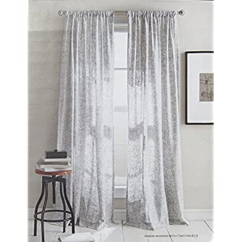 DKNY Mineral Set Of 2 Window Curtains Panels 50 By 84 Inch Contemporary Modern White