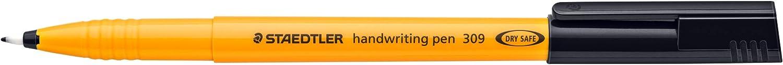 Pack 10 Staedtler 309 Handwriting Pen Fibre Tipped 0.8mm Tip 0.6mm Line Blue Ref 309-3
