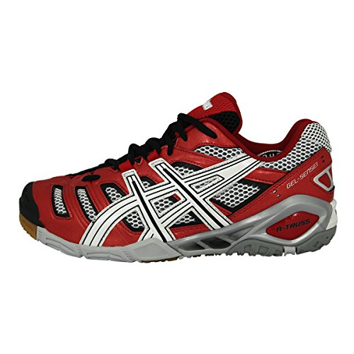 Asics Gel sensei 4 - Zapatillas de balonmano de cuero para hombre rojo rojo