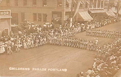Portland Oregon Childrens Parade Patriotic Real Photo Postcard JJ649435