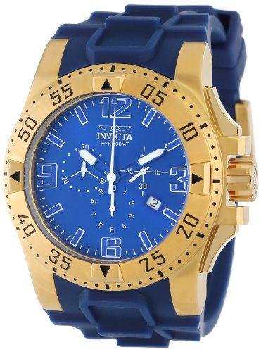 Invicta Men's 11903 Excursion Sport Chronograph Blue Dial Blue Polyurethane Watch - Excursion Blue Dial
