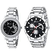 Rich Club Analogue Black Dial Men's & Women's Couple Watch