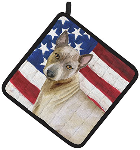Caroline's Treasures BB9680PTHD Thai Ridgeback Patriotic Decorated Pot Holder, 7.5H x 7.5W, Multicolor by Caroline's Treasures