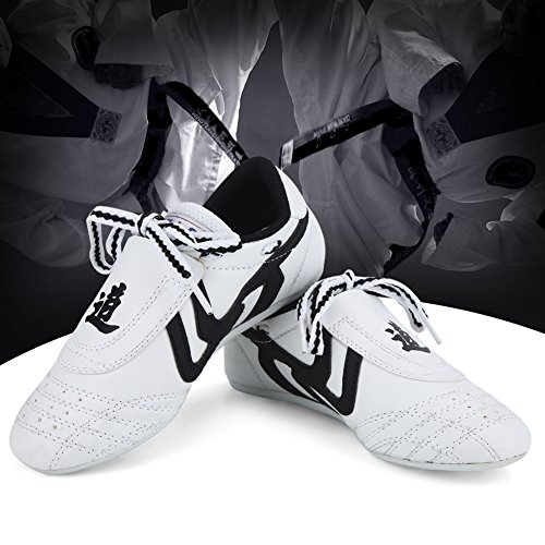Martial Arts Shoes Taekwondo Shoes,Kids Teenager Martial Arts Training Shoes Sport Boxing Karate Shoes for Taekwondo…