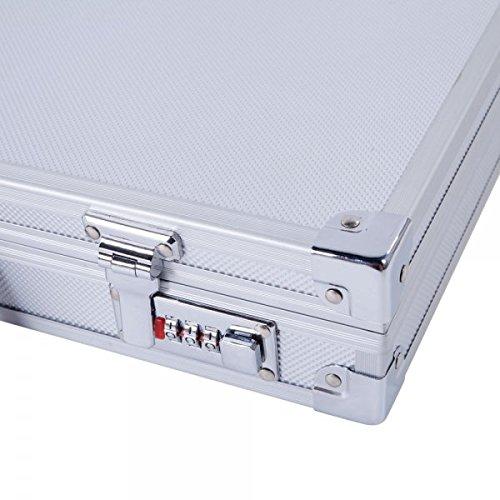 Thxbyebye 45257.5cm Aluminum New Framed Locking Gun Pistol HandGun Lock Box Hard Storage Carry Case