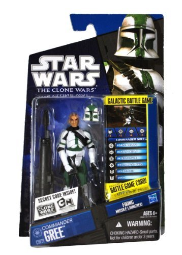 Hasbro Star Wars 2010 Clone Wars Animated Action Figure CW No. 21 Commander Gree