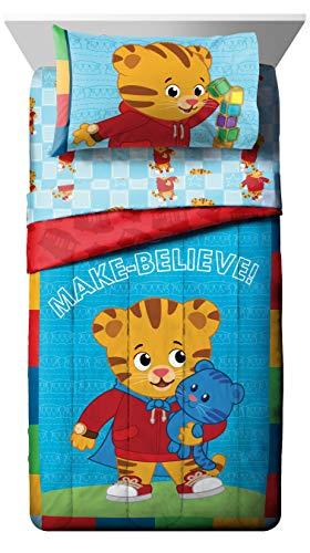 Jay Franco Daniel Tiger's Neighborhood 4 Piece Toddler Bed Set - Super Soft Microfiber Bed Set Includes Toddler Size Comforter & Sheet Set - (Official Daniel Tiger's Neighborhood Product) 2