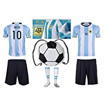 Argentina Messi #10 Home Kids Soccer Jersey All Youth Sizes Ages