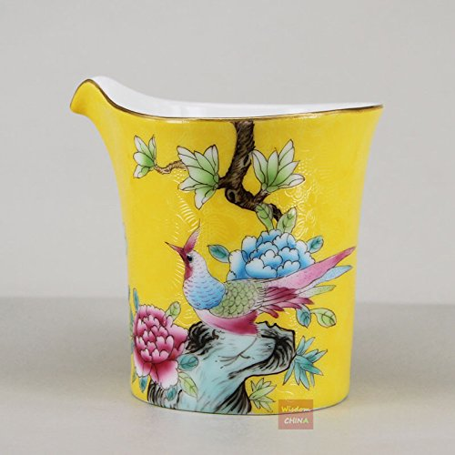 Bird flower Jingdezhen Pa Hua Famille-rose Porcelain Tea pitcher gongdao tea cup ()