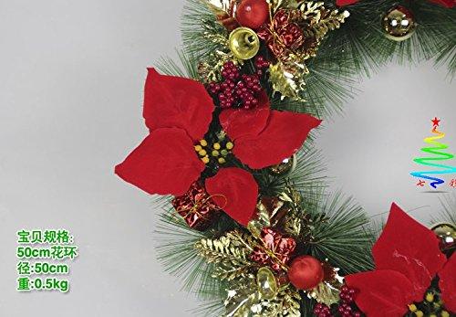 Christmas Wreath Decorations Pine Vine Ornament Decorative Flowers Festival Party Xmas Suitable For Door, Sitting Room, Hotel, Wedding Scene, Villa Decoration