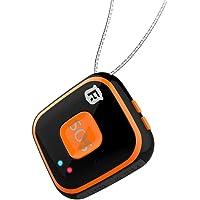 Chengstore RF-V28Colgante para niños y personas mayores con dispositivo de seguimiento GPS, GSM, WIFI, localizador con alarma, audio bidireccional, geocerca, alarma descendente, color Black without Box