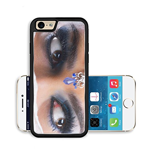 Liili Premium Apple iPhone 6 iPhone 6S Aluminum Backplate Bumper Snap Case IMAGE ID: 20148690 Fashion Beauty Beautiful Woman With hairsyle and Luxury Makeup isolated on white background in studio Beau