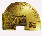 Ardisle 24K GOLD PLATED PLAYING CARDS FULL POKER DECK 99.9% PURE MEN CHRISTMAS GIFT IDEA