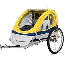 Schwinn 13-SC677AZ Echo Double Bike Trailer, Yellow