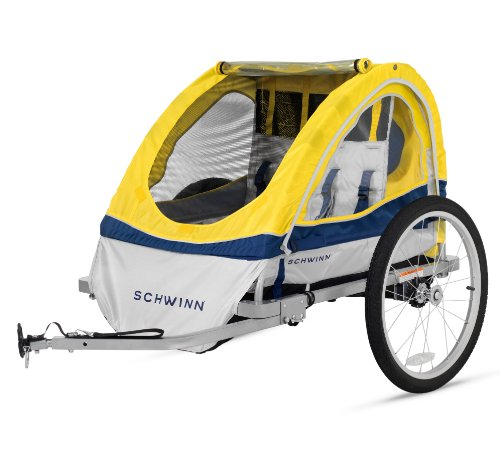 Schwinn 13-SC677AZ Echo Double Bike Trailer, Yellow