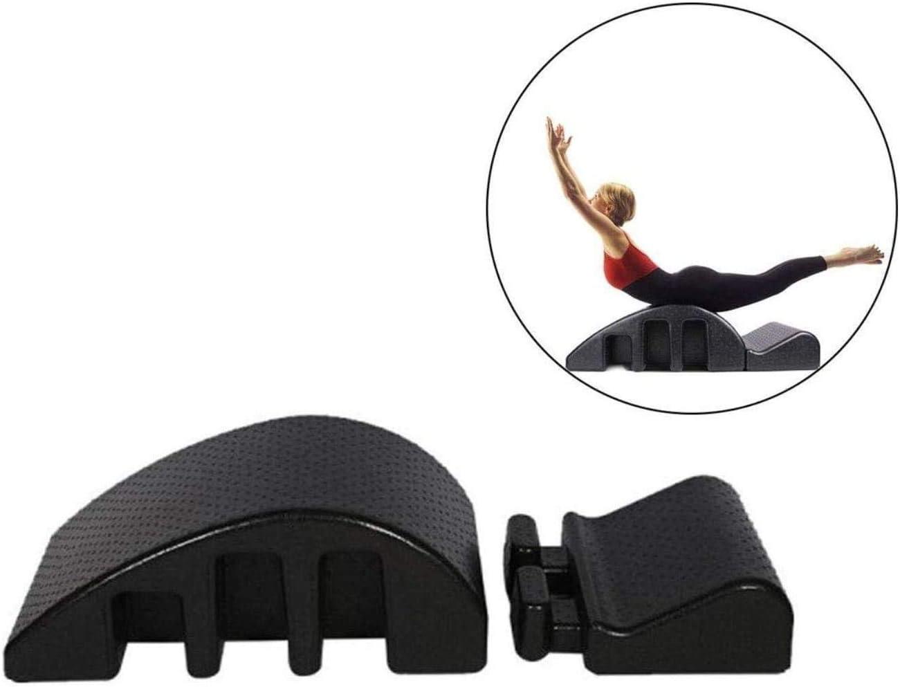 YF-SURINA Equipo deportivo Masaje Cama Pilates Yoga Corrección de la columna vertebral/órtesis cervical, Corrector de la columna del arco de Pilates, Alineación del alivio del dolor de espalda Curv