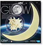 4M Glow-In-The-Dark Moon and Stars - 1 Moon/12 Stars