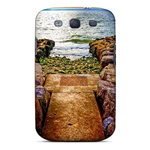 Galaxy S3 Case, Premium Protective Case With Awesome Look - Rocky Path To Ocean