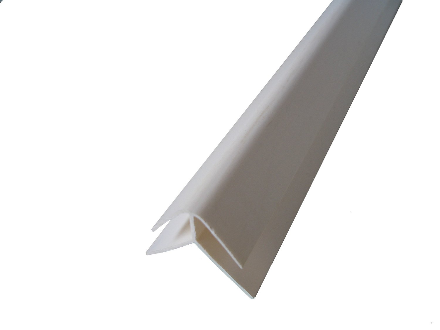 White Panel Trim Perfect for Bathroom Kitchen Shower Wall PVC Cladding Panels-8mm External Corner Edging Trim-100/% Waterproof-Use with Claddtech Adhesive