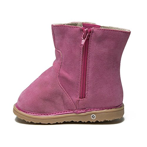 Review Mooshu Toddler Girl's Maddie Tall Leather Squeaky Riding Boots, Hot Pink, 4