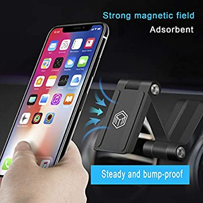 Sancore Car Phone Mount Magnetic -Reliable Phone Holder for Car Dashboard, Universal iPhone Mount for Any Smartphone GPS Radar Laser Detector Car Camera Recorder and More Use (Metal Balck)