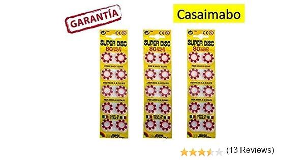 Casaimabo Pack 240 fulminantes en Aros de 8 tiros para Pistolas de ...