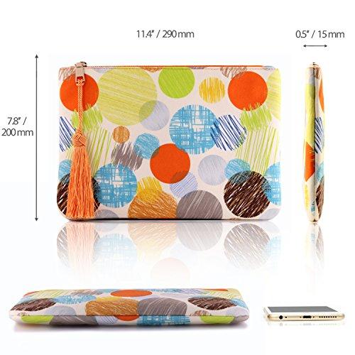 Smartphone Ultra Line Circle Otto Clutch Money Purse Women��s Multiple Fashion Slim Slots Cards 787SaAzn