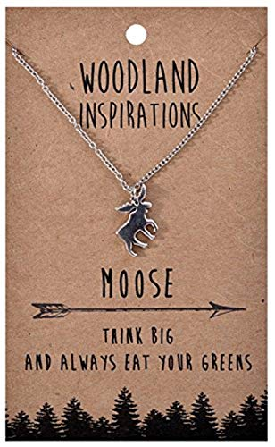 Shag Wear Woodland Nature Inspirations Quote Necklace (Moose Pendant)