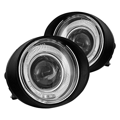 05 Projector Fog Lights - For 02-04 Nissan Altima 03-05 FX35/45 Clear Halo Projector Fog Light Pair Set