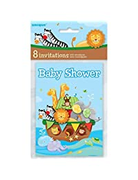 Noah's Ark Baby Shower Invitations, Pack of 8 by Unique Party BOBEBE Online Baby Store From New York to Miami and Los Angeles