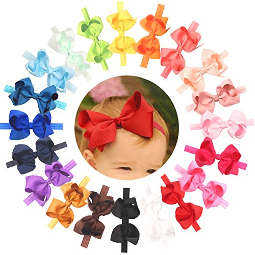 Baby Girls Headbands Grosgrain Ribbon 4.5