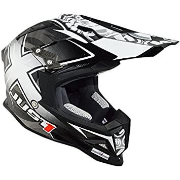 Just 1 Helmets - J12 Casco Misterx, Negro Carbon Looks, XXL