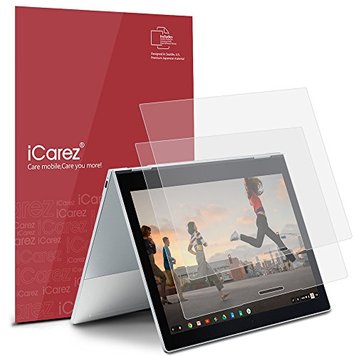 iCarez [Anti-Glare] Matte Screen Protector for Google Pixelbook 12.3-inch Easy Install with Lifetime Replacement Warranty [2-Pack]