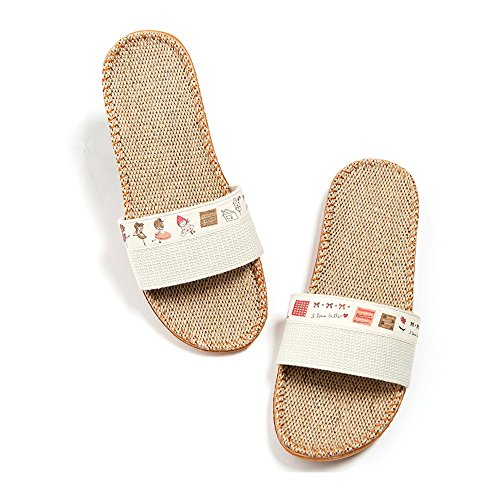 Pantofole Interne Traspiranti Da Donna Bestfo Well Off-white-1
