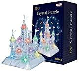 Monique Children 105PCS 3D Crystal Castle Puzzle -3D Blocks Jigsaw Puzzles Game with Light-Up Musical