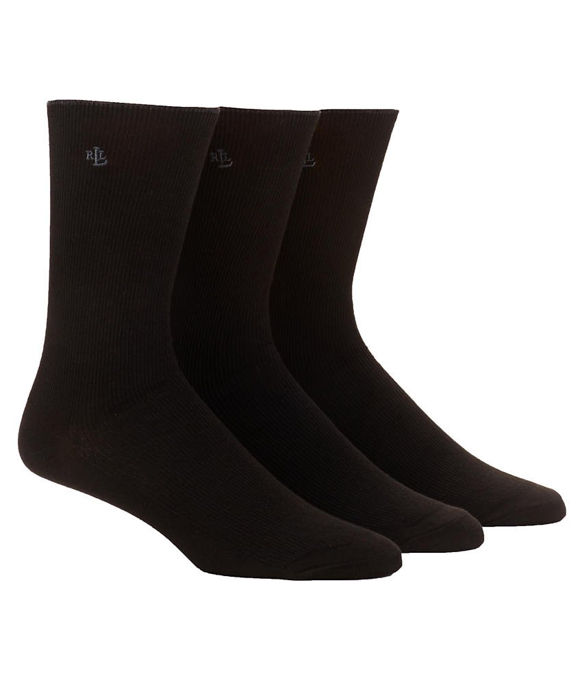 Tipped Rib Cotton Trouser Sock - 3 Pair Pack (34000)