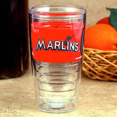 Miami Marlins 16oz. Tritan Slim Cup with PVC Wrap