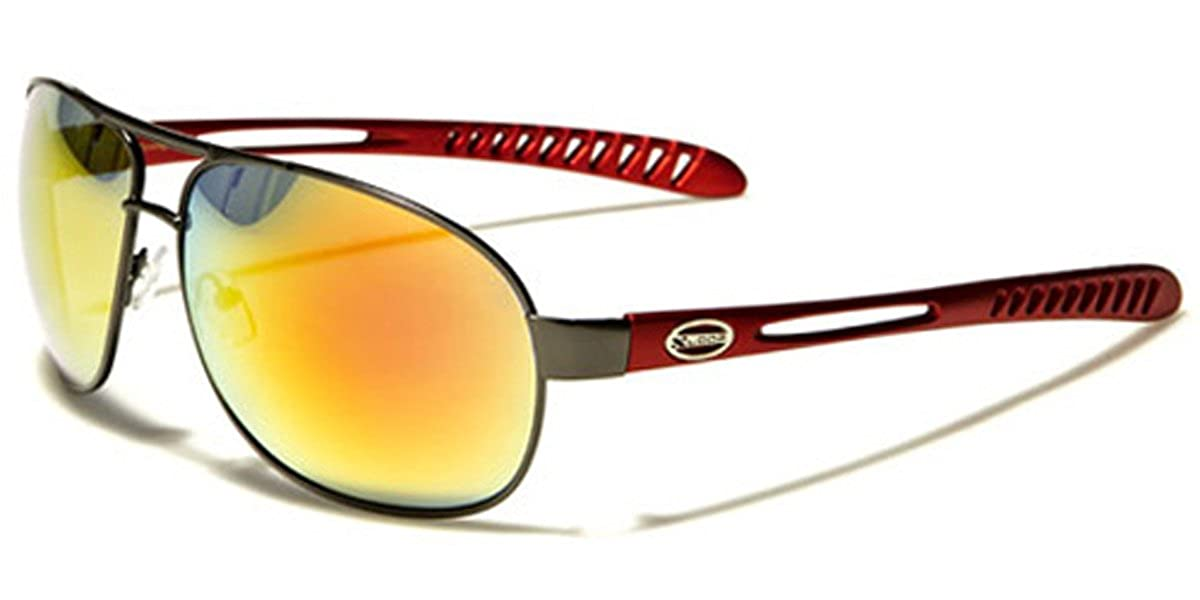 4a7aab0061f30 Amazon.com  X-Loop Men s Metal Sport Aviator Sunglasses  Clothing